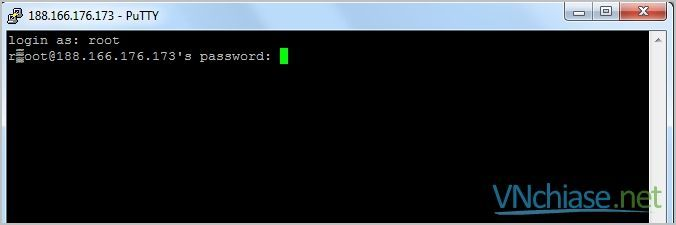 đăng nhập vps linux putty vnchiase