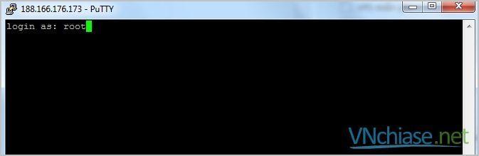 đăng nhập vps linux putty
