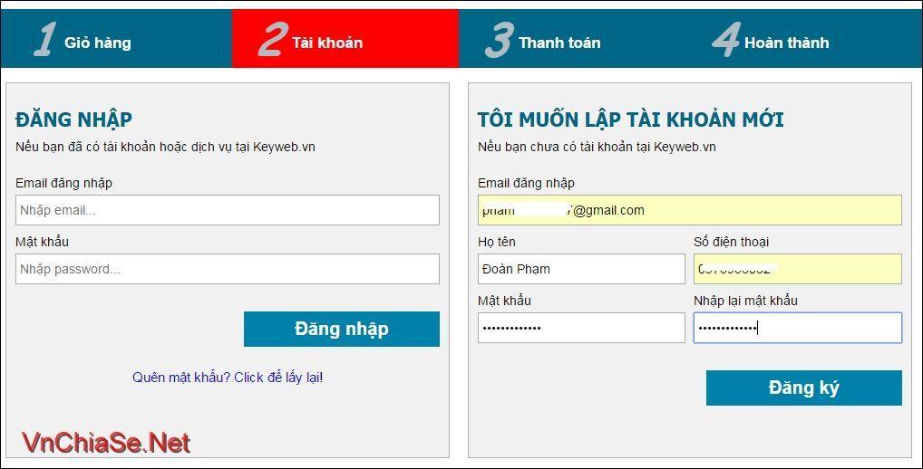 Hosting miễn phí Keyweb