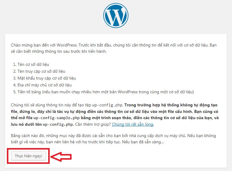 cài đặt WordPress trên Hosting DirectAdmin