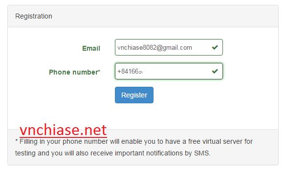 đăng ký vps miễn phí vnchiase.net