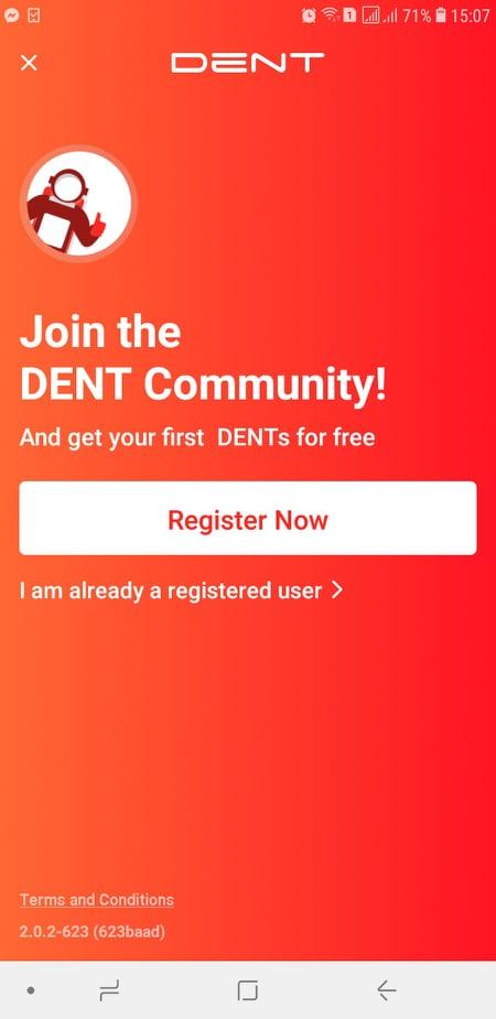 nhận DENT Token để nạp card điện thoại miễn phí