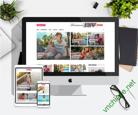 download redmag theme wordpress premium miễn phí